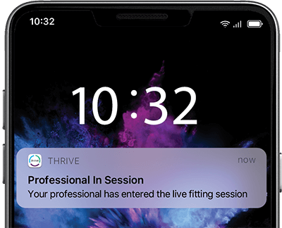 Image of Professional in session notification