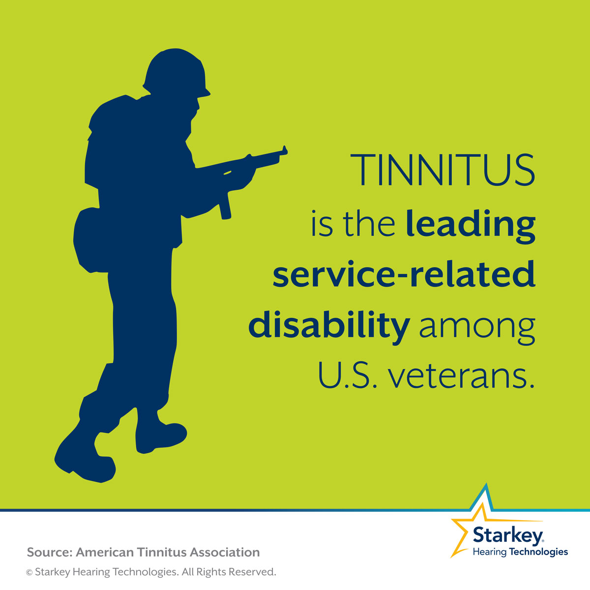 Veterans commonly suffer from tinnitus