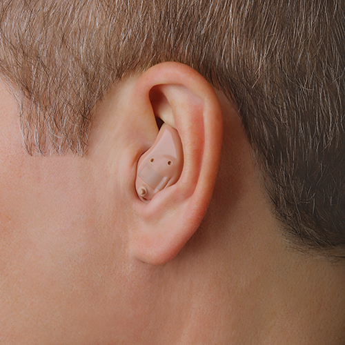 ITE hearing aid in ear