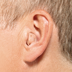 ITC hearing aid in the ear