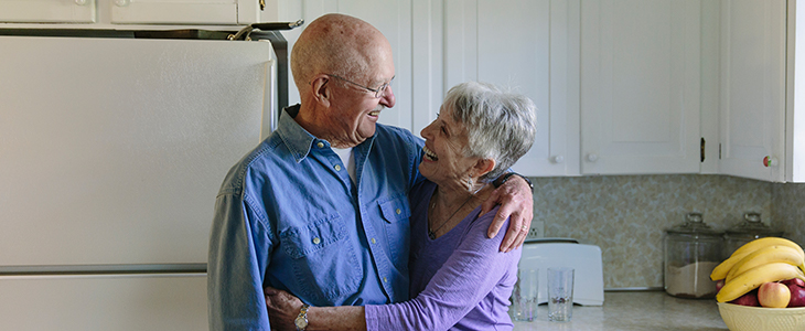 Grandparents with hearing problems enjoy using hearing aids.