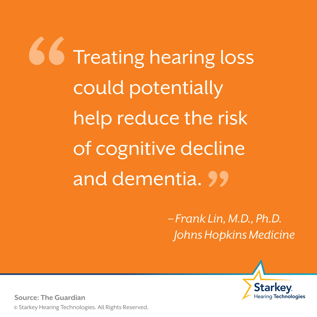 There are major mental health and cognitive benefits to treating hearing loss.