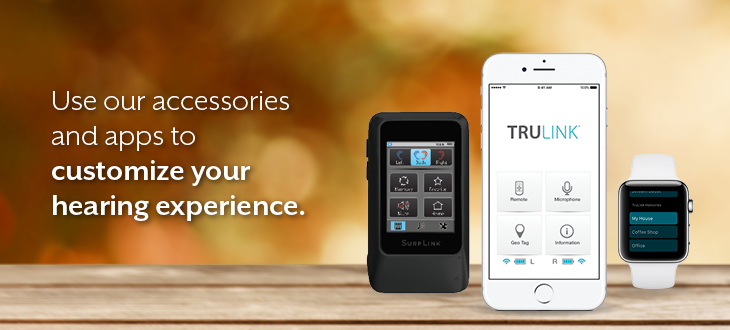 Customize your hearing experience with mobile apps.